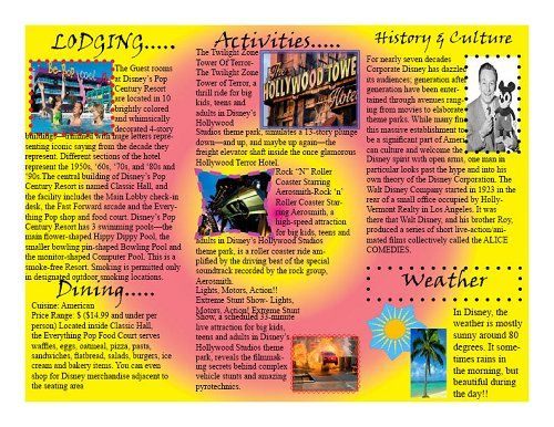 Brochure Examples For School Project Google Search
