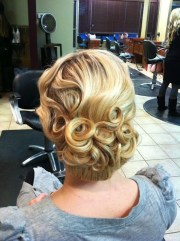 pin curl updo 's