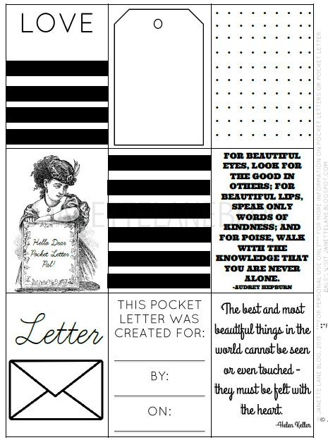 17 Best images about pocket letters on Pinterest