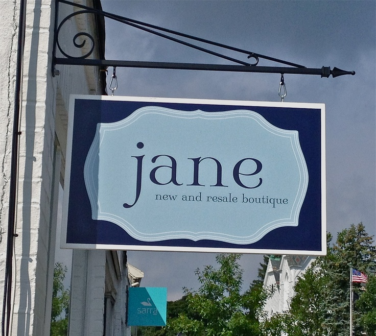 metal frame outdoor kitchen farm table sign for jane's boutique | retail display ideas ...
