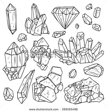Mineral Crystal Stock Vectors & Vector Clip Art