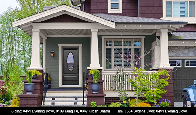 Siding: 0451 Evening Dove, 0109 Kung Fu, 0337 Urban Charm