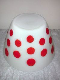 Red Polka Dot Mixing Bowl Vintage Fire King   Mixing bowls ...