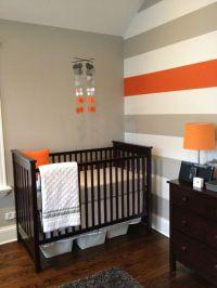Baby nursery mobile, grey and Orange Nursery Mobile, grey ...