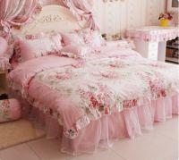 Victorian Style Bedding Sets | ... pink rose print bedding ...