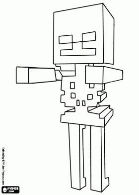 malvorlagen Skelett, feindliche Kreatur von Minecraft