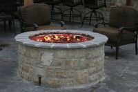 Backyard Stone Fireplace Kits and Fire Pit Inserts | In ...