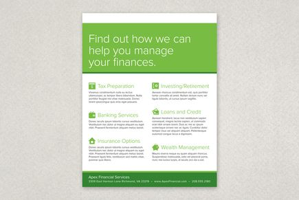 Financial Planning Services Flyer Template From Inkd #