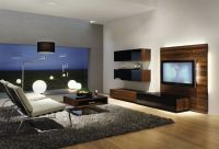 Modern TV room interior