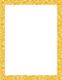 frontera del brillo oro papel