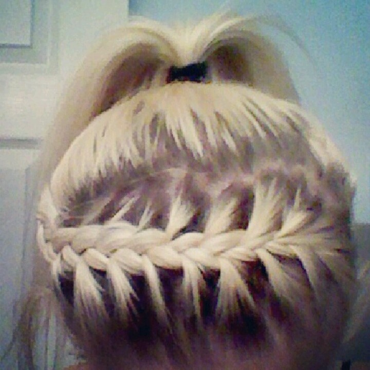 My Hair Messy Ponytail With Braided Headband My Style