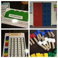 Lego theme classroom. Anchor charts, door decoration, and