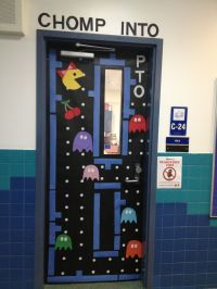 PAC man classroom door design | Classroom Ideas | Pinterest