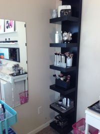 Interesting idea for make-up storage using an IKEA ...