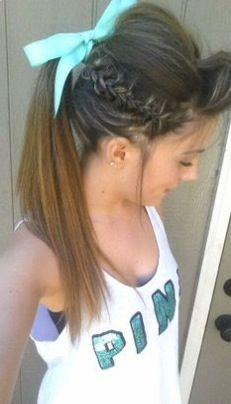 25 Best Ideas About Cute Cheer Hairstyles On Pinterest Braided