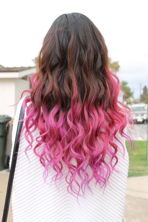 25 Best Ideas About Pink Hair Tips On Pinterest Dip Dyed Hair
