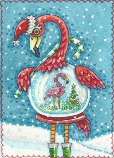 FLAMINGO WHITE CHRISTMAS Had Fun Creating This Piece