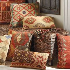 Removable Cover Sofa Natural Denim Slipcover Kilim Indoor Throw Pillows | Rustic Home Decor Pinterest ...