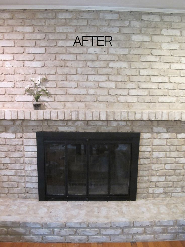 Fireplace Brick Paint Colors Tutorial: How To Paint A Brick Fireplace | Painted Brick