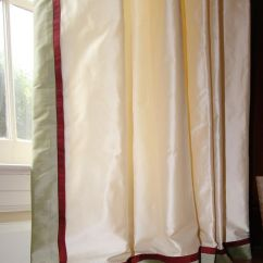 Living Room Drapery Ideas Photos Of Wall Art It's Called Banding!!-, Double Banded Silk Curtains ...