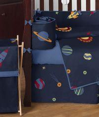 Rocket Ship Space Galaxy Baby Bedding 9pc Crib Set | Crib ...