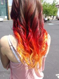 Fire ombre hair dye | On Fire ! | Pinterest | Hair, Ombre ...