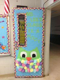 Door Themes & Owl Themed Classroom Door. Megan Hanson ...