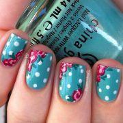 ideas floral nail