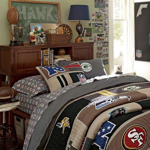 Boys Football Theme NFL Patch Duvet Cover Amp Pillowcase