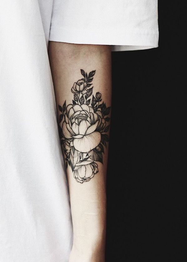 25 best Peonies tattoo ideas on Pinterest Flower tattoo