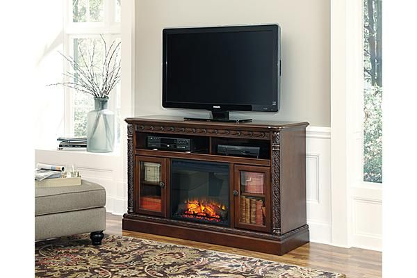 The North Shore 60 TV Stand With Fireplace From Ashley