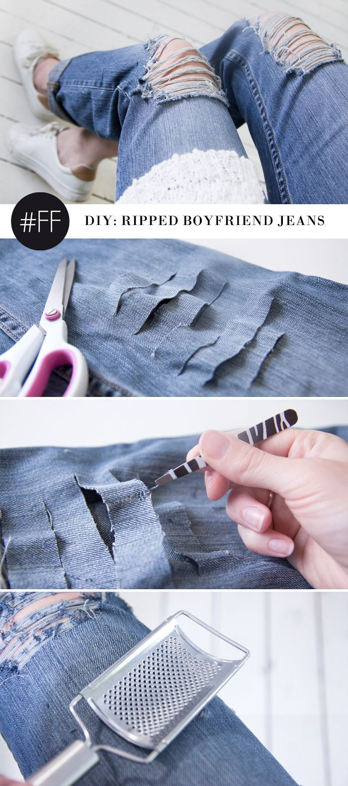 25 Best Ideas About Diy Ripped Jeans On Pinterest Diy
