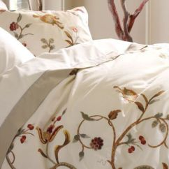 Living Rooms With Brown Couches Beach Room Pottery Barn Alisa Embroidered King Duvet Cover New Alissa ...