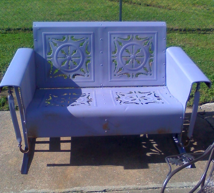 Check her out Lavender Loveseat Metal Vintage Porch And