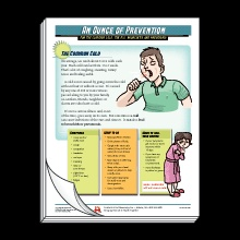 An Ounce Of Prevention 4sided handout for the common cold the flu bronchitis and pneumonia