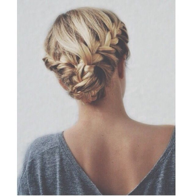 Double braid updo casual