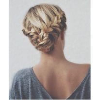 Double braid updo casual | Beauty | Pinterest | Casual ...