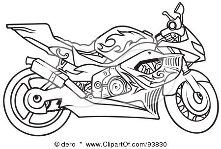 Great Royalty-Free (RF) Motorcycle Clipart, Illustrations