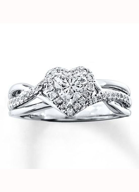 Kay Jewelers Heart Shaped Engagement Ring Engagement