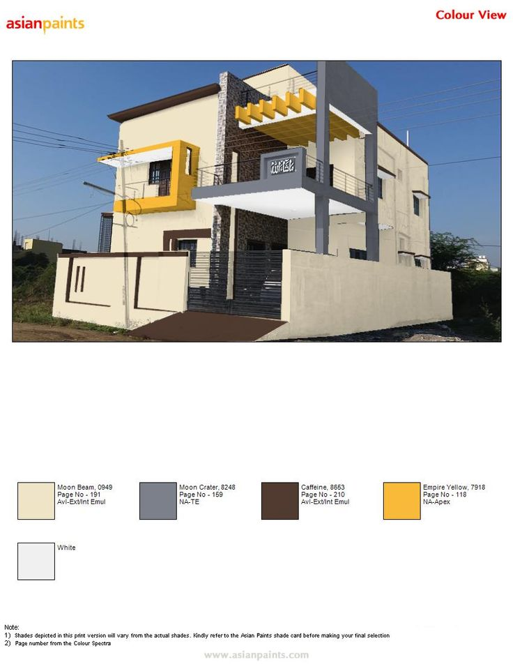 Asian Paints Exterior Colour Combinations Exterior