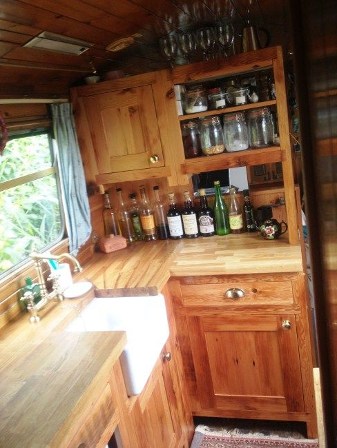 ikea kitchen cupboards table ideas design 4 – narrowboat | reclaimed wood ...