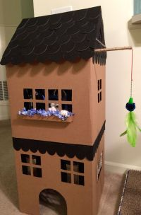 DIY - Simon DeMott kitty playhouse - Adapted from Martha ...