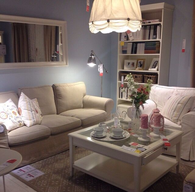 pictures of grey living room walls blue and tan decor ikea hemnes ektorp livingroom | ...