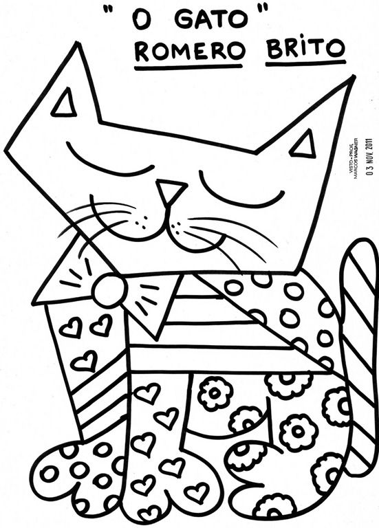 28 best images about Romero Britto Art Projects for Kids