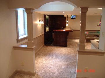 Half walls Basements and Small basements on Pinterest
