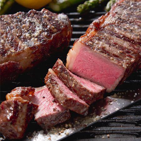 new york strip steak medium rare