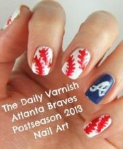 atlanta braves nail art