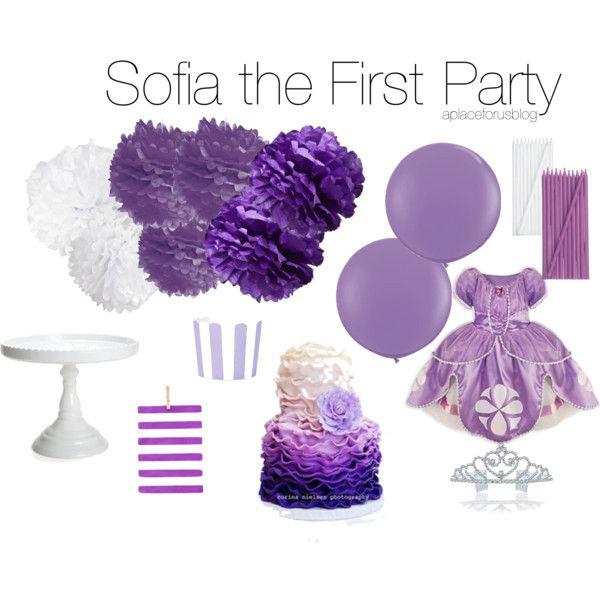 Disney Sofia the First Birthday Party by aplaceforusblog, via Polyvore