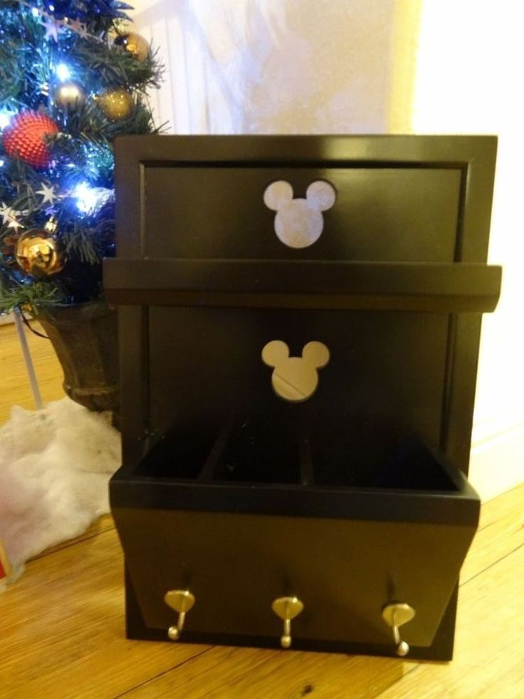 Disney Mickey Mouse Cutout Entryway Shelf with Mail Holder