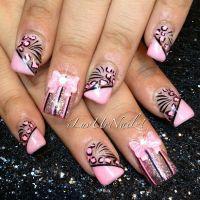 Best 20+ Pink Black Nails ideas on Pinterest | Pretty nail ...